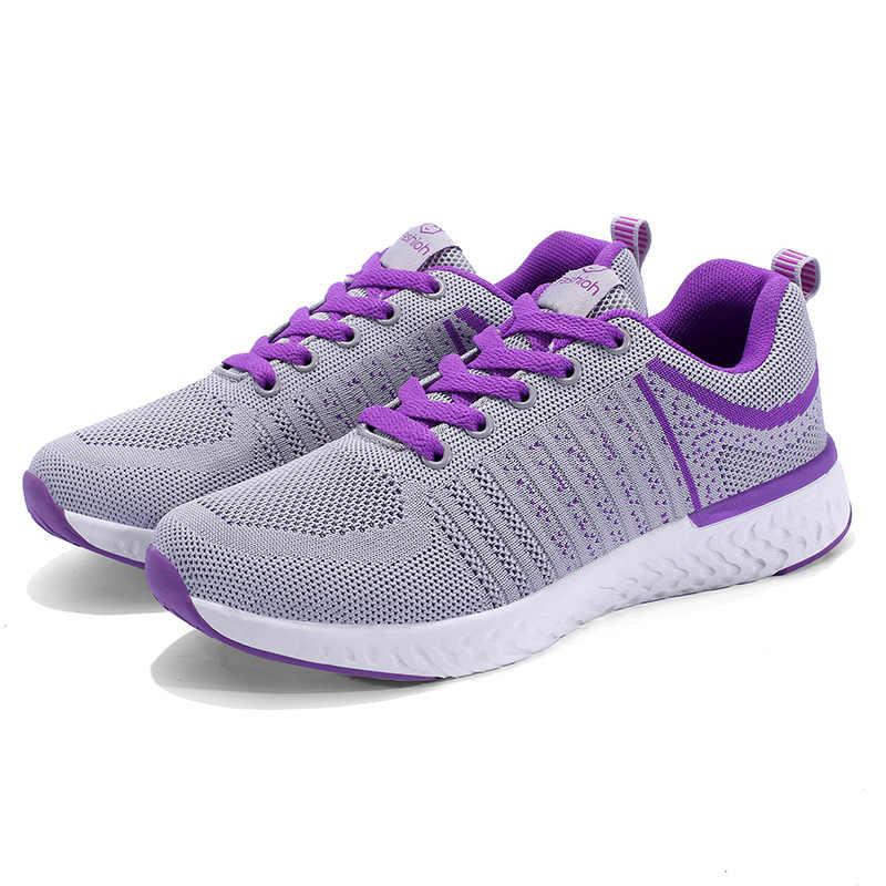 Sommer Frauen Schuhe Mesh Turnschuhe Casual Damen Schuhe Flache Atmungs Leichte Turnschuhe Frauen Laufschuhe 2019
