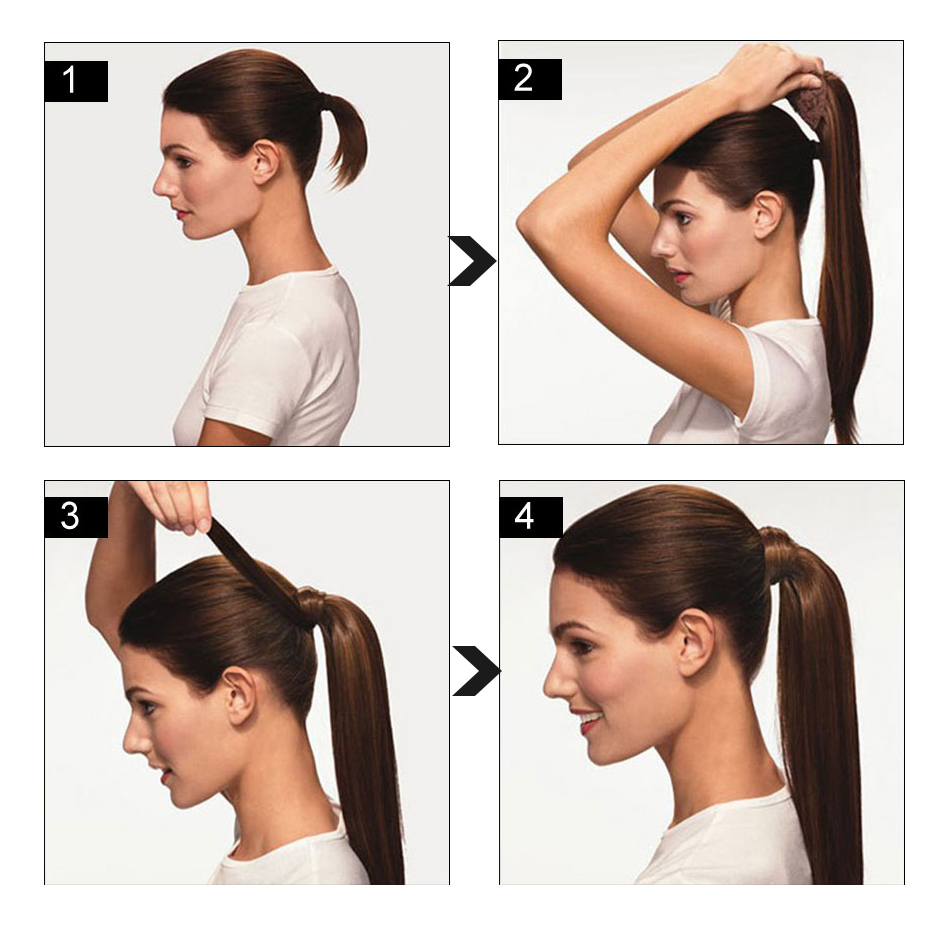 extensão do cabelo natural humano feminino peruca