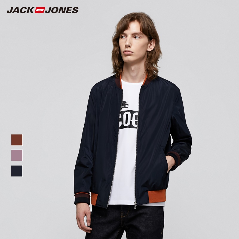 JackJones Business Casual Men's Pure Color Long-sleeved Baseball Jacket Menswear| 219321543