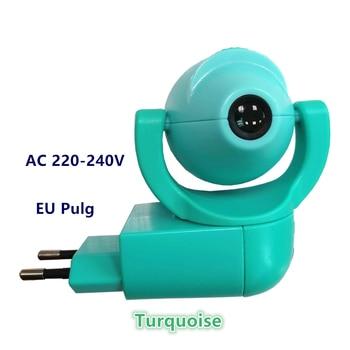 Star Moon Animal Projector LED Projector 6 Images Sensor  EU Plug Night Light Lamp For Kids Children Baby Bedroom Decoration - Turquoise