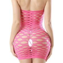 Lenceria – sous-vêtements en résille, en coton élastique, Sexy, en maille, robe de poupée, Lingerie érotique, Costumes sexuels porno