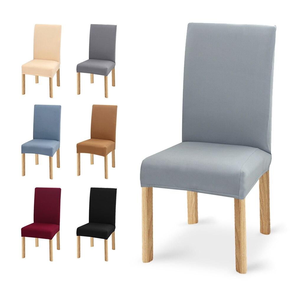 1/2/4/6 adet çıkarılabilir elastik sandalye kılıfı streç Slipcovers mutfak restoran düğün ziyafet otel sandalye kılıfı ing XL