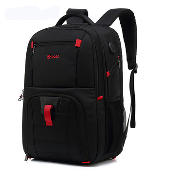 POSO Brand 17.3Inch Laptop Backpack Portable Anti-theft Nylon Waterproof School Fashion Business Travel