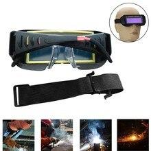 Eyes Goggle Super protection Solar Powered Auto Darkening Welder Welding Glasses Mask Helmet UV protection Anti-glare%