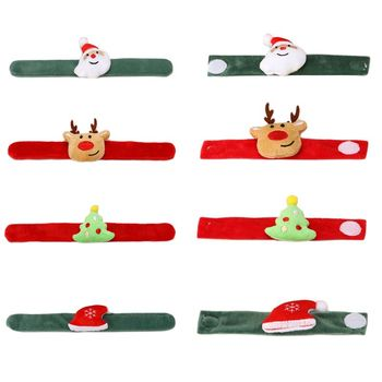 Christmas Bracelet Pat Circle Wrist Band Bangle Toys Gifts Party Decorations Wristband image