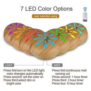 Image 2 - 500ml חשמלי ארומה חיוני שמן מפזר עץ אולטרסאונד אוויר אדים מגניב ערפל יצרנית LEDLight Fogger ארומתרפיה עבור בית