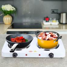 Portable Electric Double Burners Hot Plate Countertop Buffet Stove Heating Plate Outdoor Stove 220V EU Home Appliances