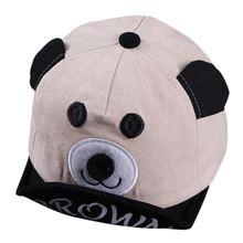 Модная регулируемая бейсболка с мультяшным медведем для мальчиков