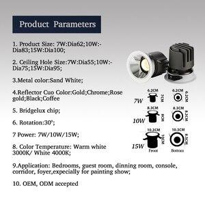 Image 5 - LED ดาวน์ไลท์ 7 W 9 W 15 W/Chrome/Rose ทอง/กาแฟ/สีดำ LED Spot แสง Foyer ห้องครัวในร่ม LED เพดาน