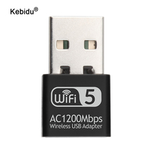 Mini USB2.0 Wifi Adapter 1200Mbps Dual Band 2.4Ghz 5.8Ghz RTL8812 Wireless USB WiFi Network Card for Desktop Laptop PC Receiver