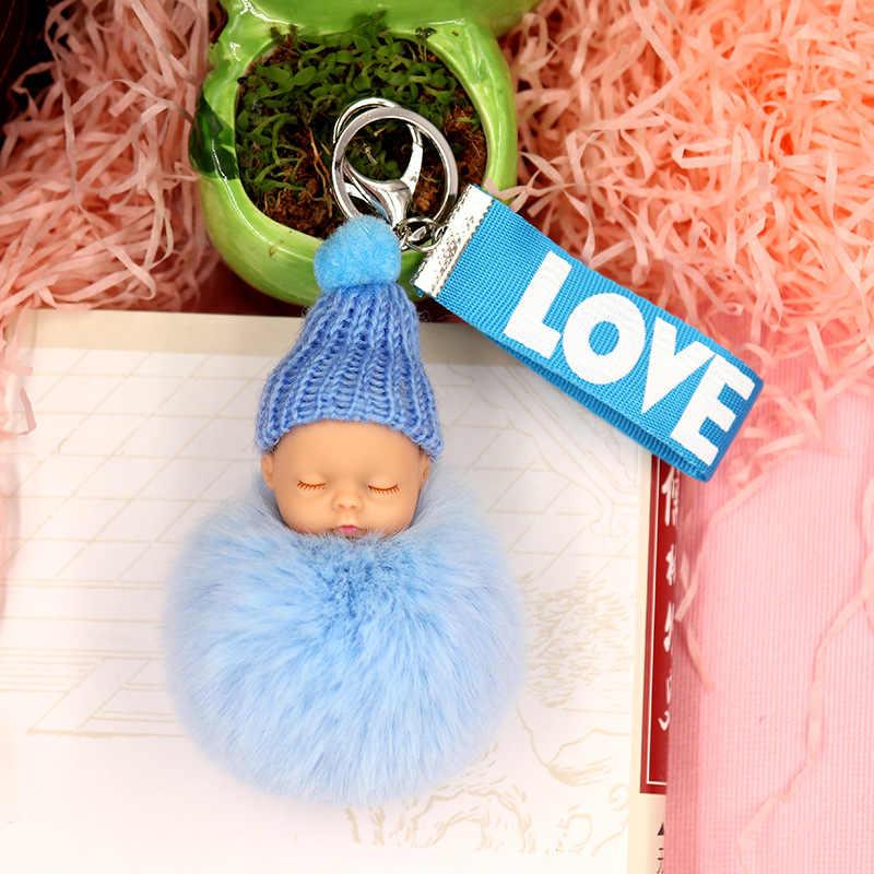 Новая Горячая Милая Спящая кукла шарик брелок Подвеска на ленте брелок-Плюшевая Кукла мультяшная сумка висячие украшения модный подарок