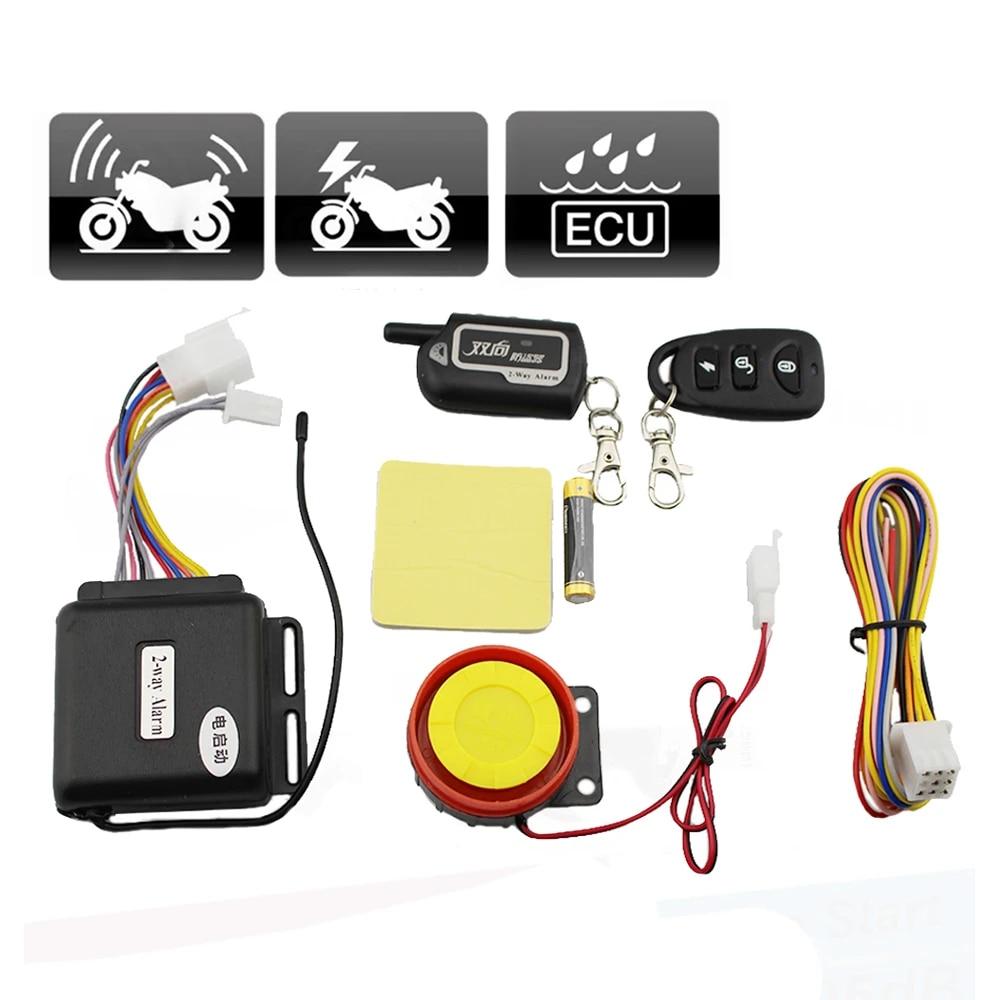 2-Way Motorcycle Alarm Remote Engine Start and Shut Off Ultra‑long Distance Burglar Vibration Security Alarm