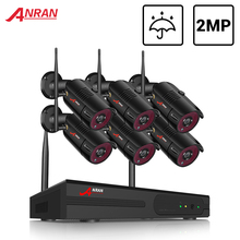 ANRAN 6CH System nadzoru 2MP bezprzewodowa kamera zewnętrzna zestaw System bezpieczeństwa wideorejestrator wodoodporny pilot nocny