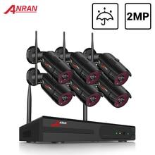 Anran 6CH Surveillance Systeem 2MP Wireless Outdoor Camera Kit Security System Video Recorder Waterdichte Afstandsbediening Night