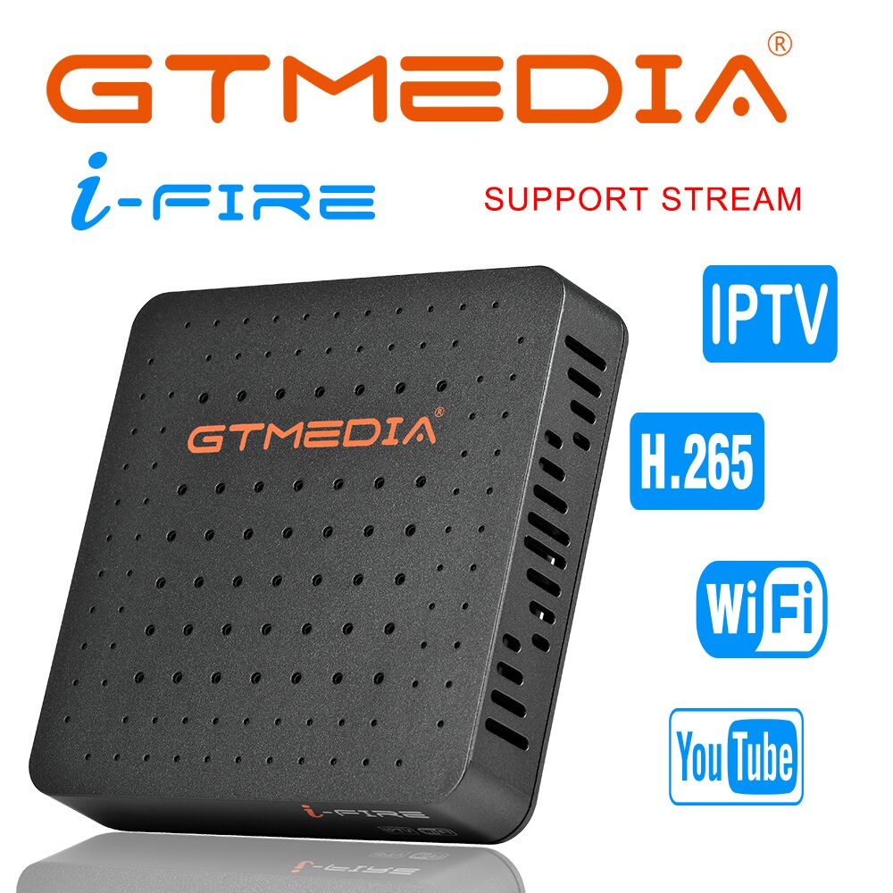 GTMedia Ifire IPTV Box Digital Set Top Box TV Decoder FULL HD 1080P (H.265) Built-in WIFI module support iptv Spain DE IT UK m3u 2017latest singapore cable box tv receiver blackbox starhub set top box black box c801 built in wifi in good resolution antenna