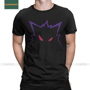 Ghost Gengar T-Shirts for Men Kaiju Japan Pokemon Pocket Monster Cartoon Cotton Tee Shirt Short Sleeve T Shirt Party Tops 1