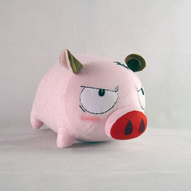 Poupée en peluche Okita Souji cochon cosplay jouets 23cm pour cadeau