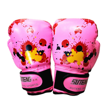 1pair Muay Thai Kickboxing Fight Mitts Kids Children Workout Boxing Gloves Training Sparring Shockproof Professional Baby Punch