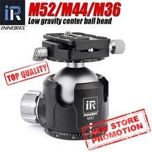 Low Center of Gravity 52mm 44mm 36mm tripod Ballhead Double U Notch ultra low profile Damping setting CNC ball head heavy duty