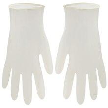 100 шт одноразовые латексные перчатки белые нескользящие кислотные и щелочные лабораторные резиновые латексные перчатки бытовые чистящие средства