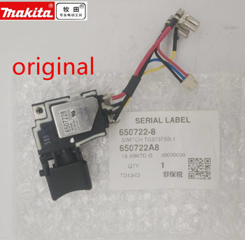 Genuine Switch 18V for Makita 650241-4 6502414 6507228 650722-8 Switch BTD134 BTD146 DTD146 BTD146Z BTD134Z TD134D Switch genuine field for makita 626133 9 4112hs