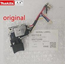 Interruptor 18v genuíno para makita, comutador btd134 btd146 dtd146 btd146z btd134z interruptor td134d
