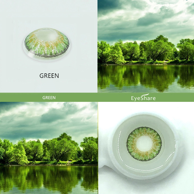 Top SaleÃEYESHARE- 2pcs 3 Tone Brilliant Color Series Colored Contact Lenses for Eyes Colored Eye Lenses Color Contacts