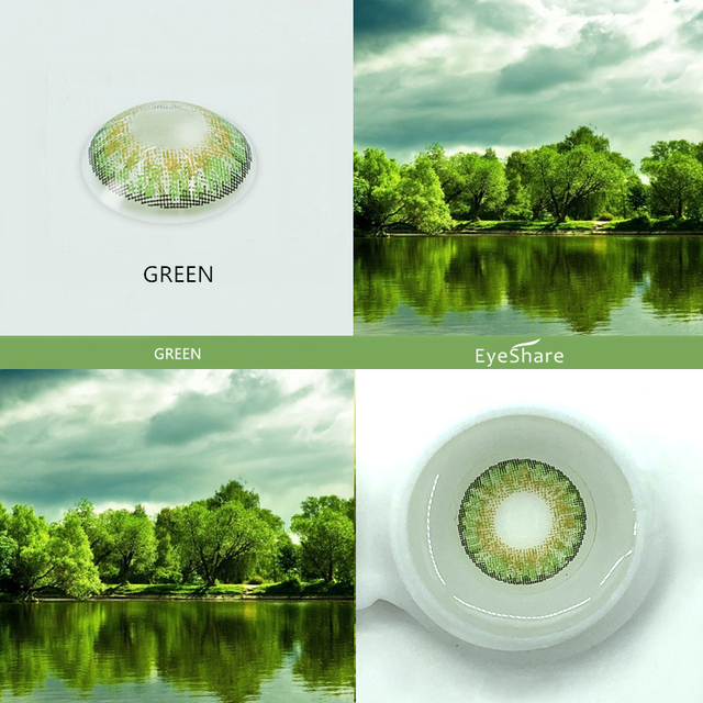 EYESHARE- 2pcs 3 Tone Brilliant Color Series Colored Contact Lenses  for Eyes Colored Eye Lenses Color Contacts 3