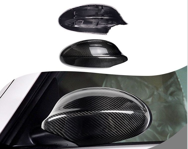 A Pair of  Wing Mirror Cover Black Casing For BMW 3 Series E90 E91 LCI 09-12 New