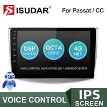 ISUDAR Radio del coche para VW/Volkswagen/Magotan/Passat B6 B7 no 2din Android Autoradio Multimedia Cámara DVR con GPS RAM 2GB ROM 32GB USB