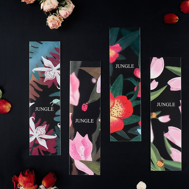 30 Sheets/set Cute Plants Bookmarks Creative Books Marker Set Flower Memo Card Paper Bookmark Stationery Office School Supplies