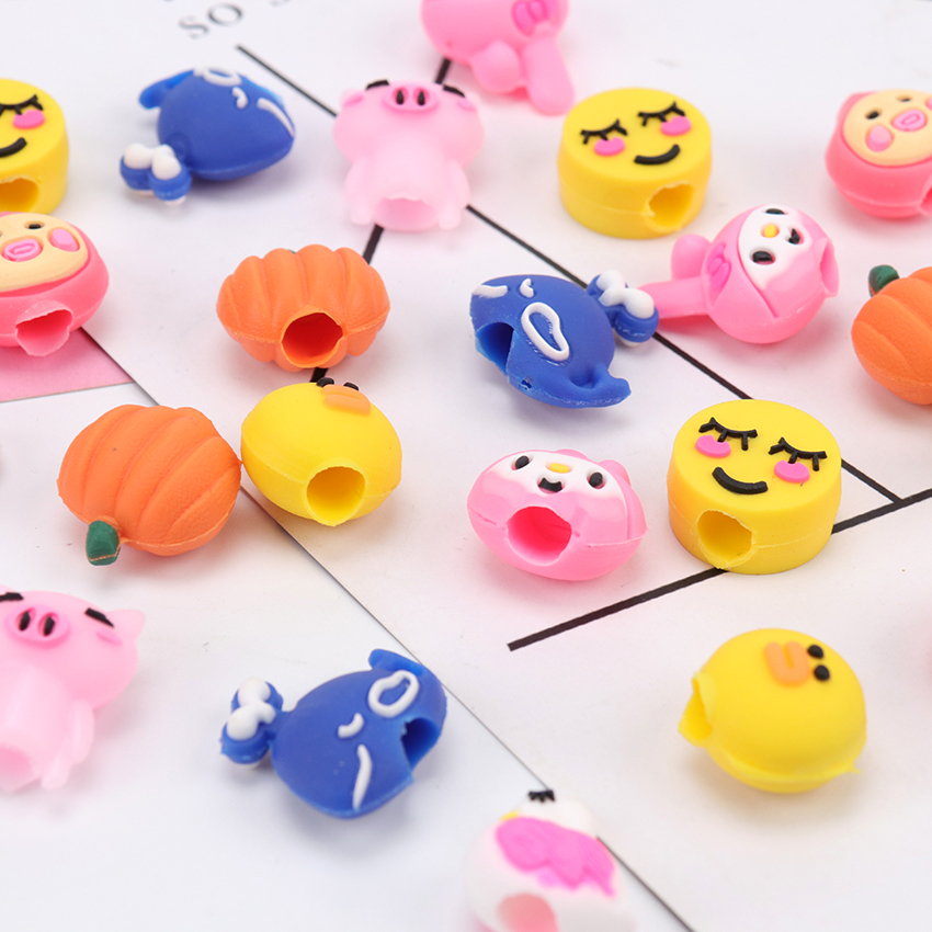 Pencil Pen Cover Multiple Styles Shape Stationery Pencil Grip For Children Gift Pencil Caps Cover 5PCS
