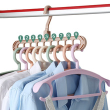 Home Storage Multi-port Support Circle Clothes Hanger Drying Rack Multifunction Plastic Scarf Hangers