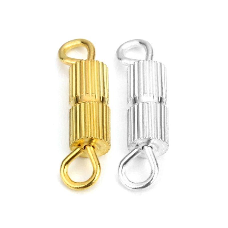 50//100Pcs Barrel Screw Clasps Jewellery Necklace /& Bracelet Craft Findings