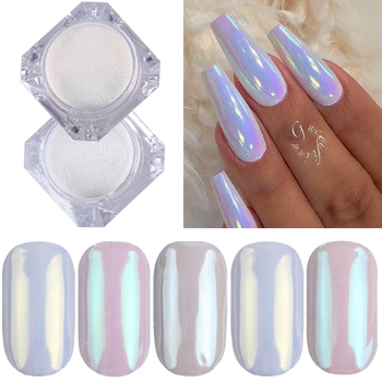1 Box Pearl Nail Glitter Powder Shimmer Effect Chrome Pigment for UV Gel Polish Shimmer Dip Mirror Dust DIY Nail Decoration 1