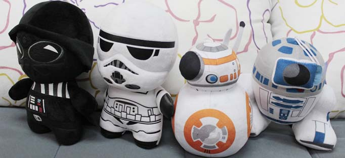 New Arrival Star Wars The Force Awakens BB-8 R2-D2 Robot Anime Cute Soft Plush Toy Birthday Children Baby Gift