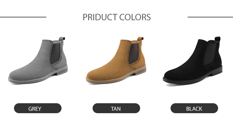 2019 Wholesale Custom Men's Shoes Suede Ankle Chelsea Boots