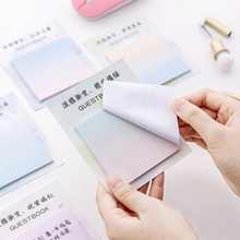 Stationery Notebook Sticky-Notes Memo-Pad Kawaii Planets School-Supplies Gradient Office
