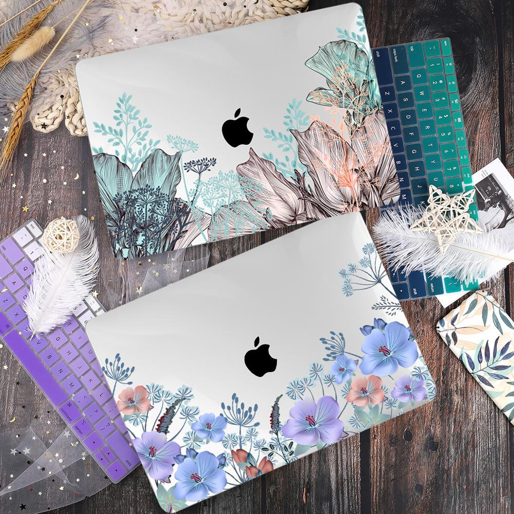 Чехол в цветочном стиле для Macbook Air 11 12 Pro Retina13 15, чехол для ноутбука, чехол для Macbook 13,3 15 дюймов 16 Touch bar A2338 Air 13 2020 A2337