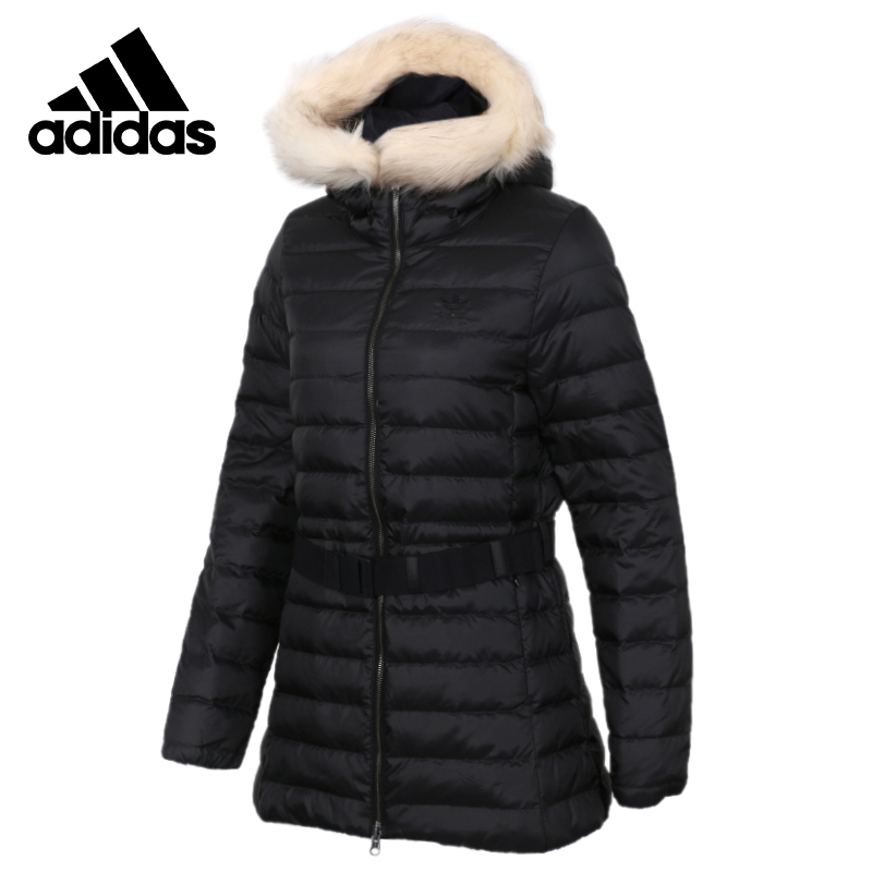 Adidas Neo DOWN JACKET LG Black Down Jacket Womens Running Jas Sport Kleding Wind-proof Hoodies Comfortable