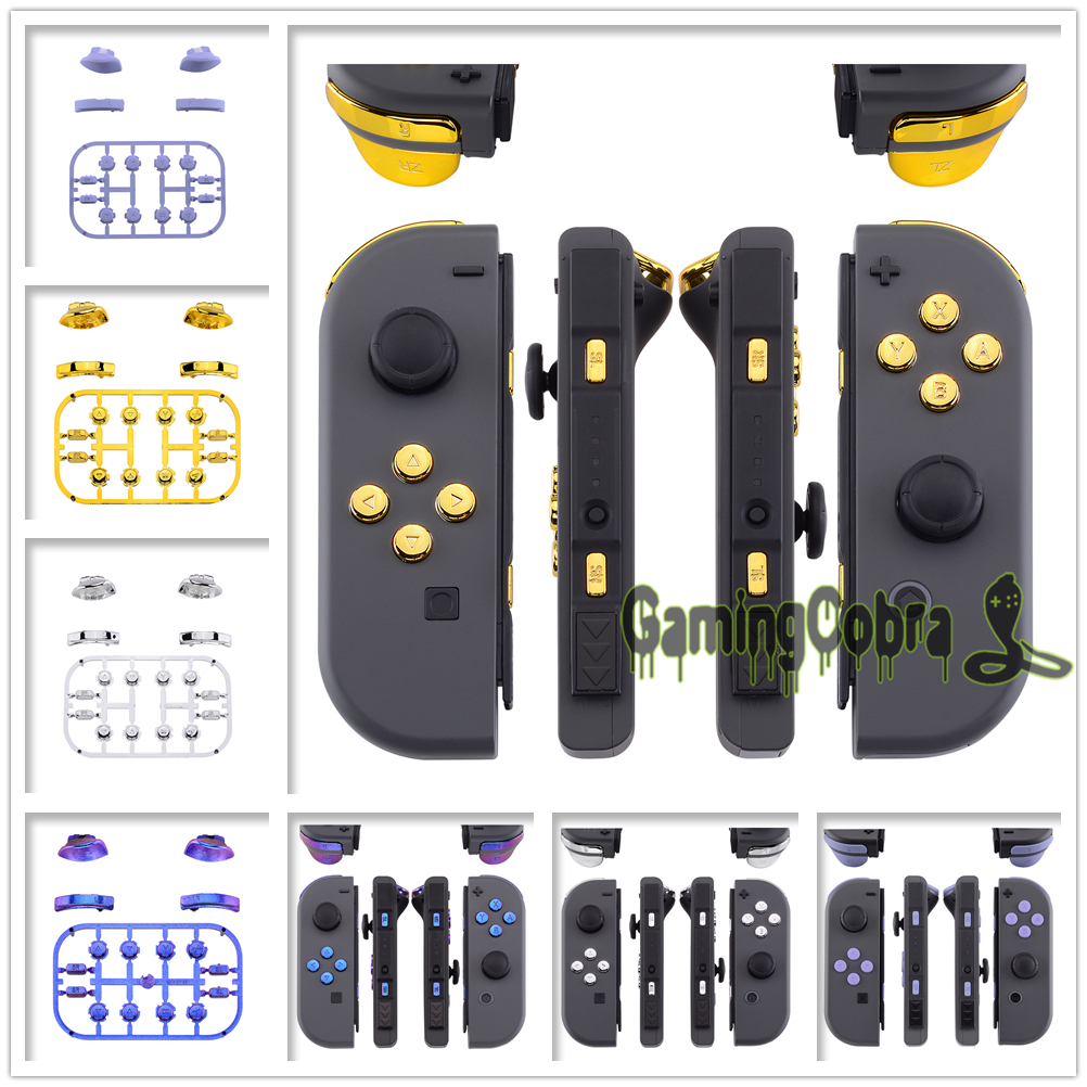 Replacement ABXY Direction Keys SR SL L R ZR ZL Trigger Full Set Buttons With Tools For Nintendo Switch Joy-Con