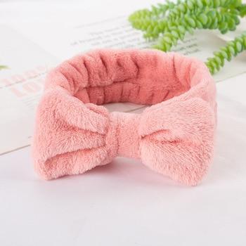 Coral Fleece Soft Headband Cross Top Kont Hairband Elastic Hair Band For Women Girls Wash Face Turban Headwear Hair Accessories 6