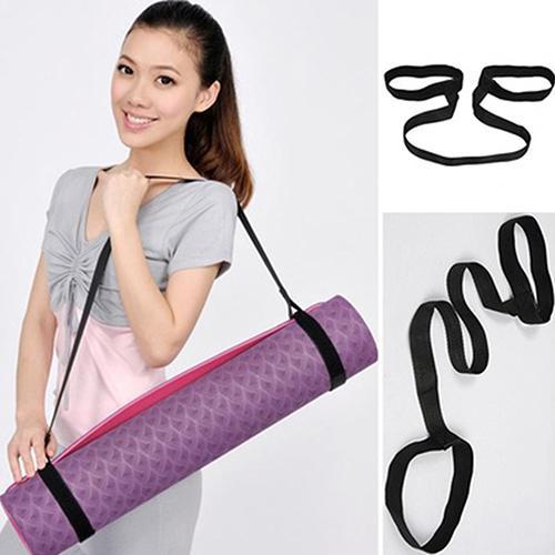 Portable Yoga Mat Sling Sports Canvas Belt Fitness Gym Adjustable Carrier Shoulder Carry Strap Exercise Stretch Yoga Belts