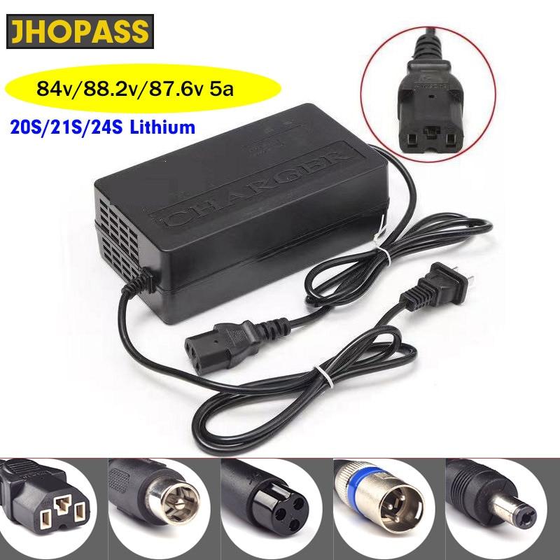 Светодиодный литиевый аккумулятор 72 в 5 А 20s 21s 24s зарядное устройство для выходного напряжения 84 в 88,2 в 87,6 в 5 а входной ток 110 В-220 В зарядка для...