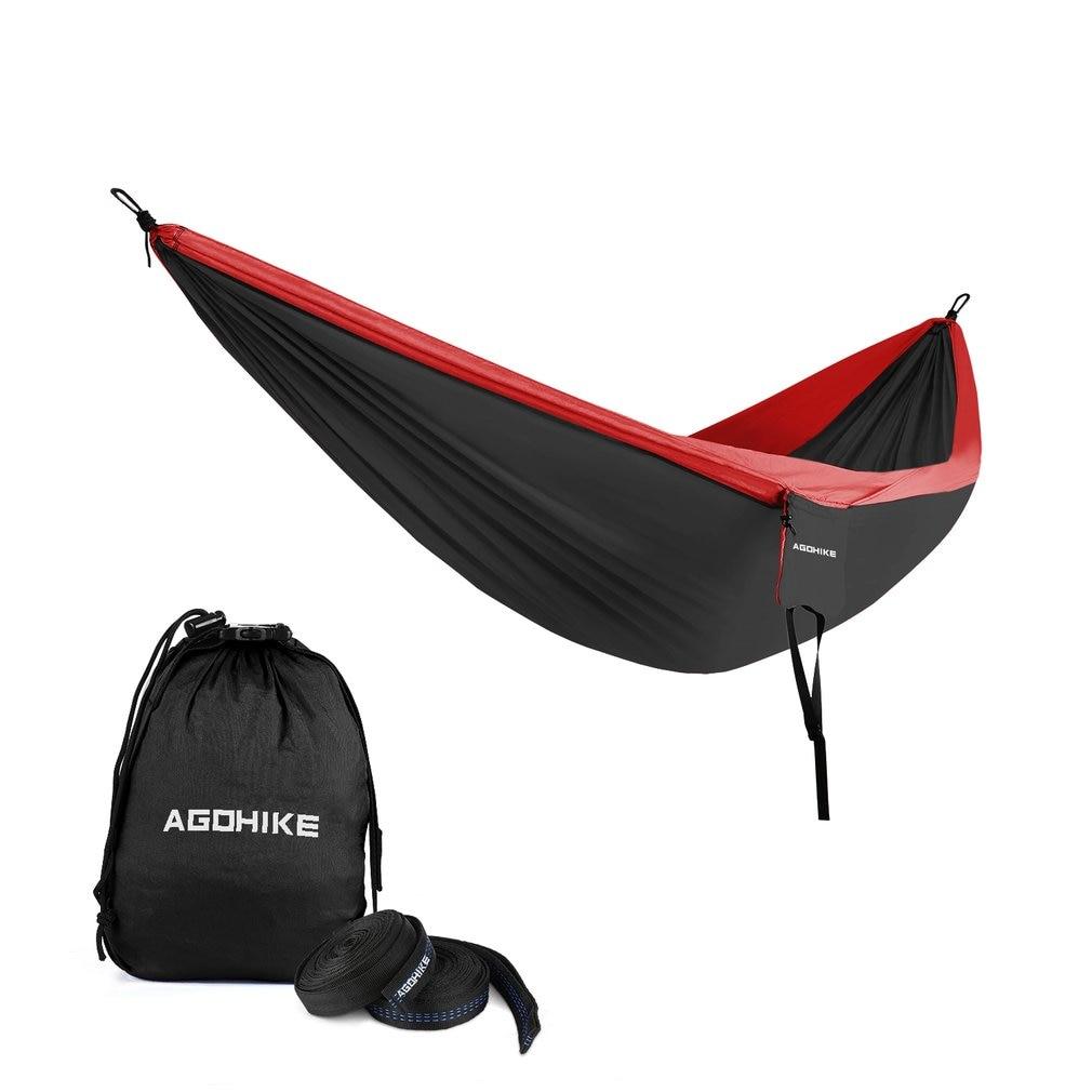 Portable Double Camping Hammock Parachute Nylon Cloth Sleeping Swing Hammock For Outdoors Backpacking Travel Beach