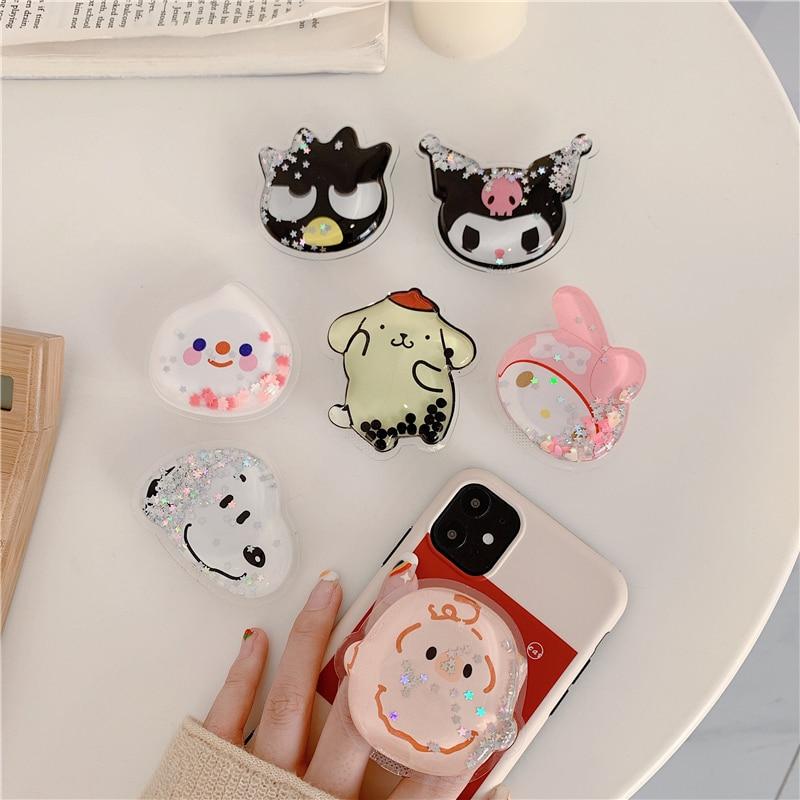 Cartoon Cute Mobile Phone Holder Universal Shrink Bracket Mobile Phone Finger Folding Bracket Handle Bracket For IPhone 11