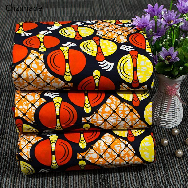 Chzimade 1Yard Lantern Printed African Real Wax Fabric 100% Cotton African Fabric For Women Party Dress Making Accessories