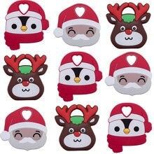 10 шт/5 шт в рождественском стиле для маленьких животных Силиконовые