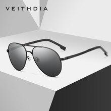 VEITHDIA Men's Sunglasses Brand Designer Pilot Polarized Mal