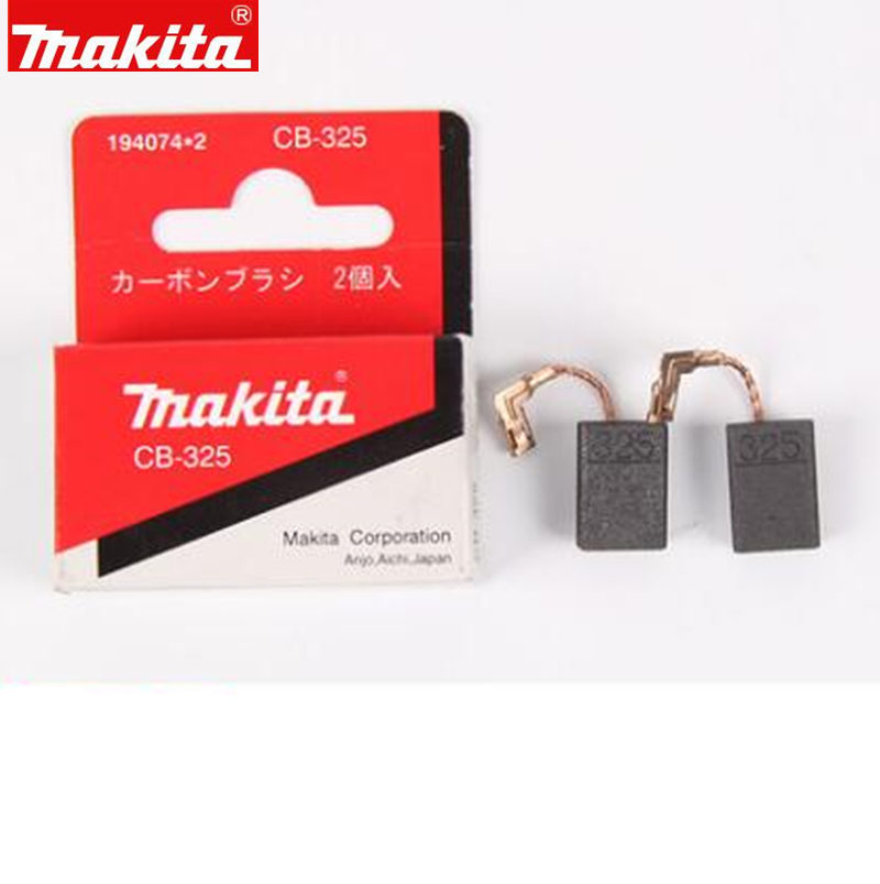 Makita 194074-2 Carbon Brush For CB-325 9558PB HR2651J HR2650J HR2631F HR2630 BO6050J GA5040R 9558NB 9556NB 9555NB 9555B 9553B